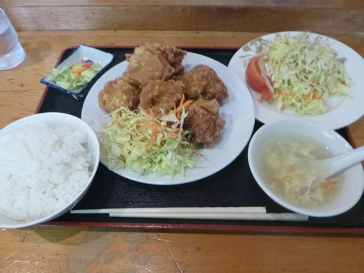 中国料理鉄人大網店の唐揚げご飯セット039