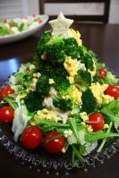 ポテトサラダのツリー☆