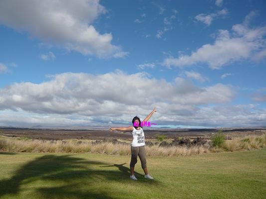 ハワイ島ゴルフ1