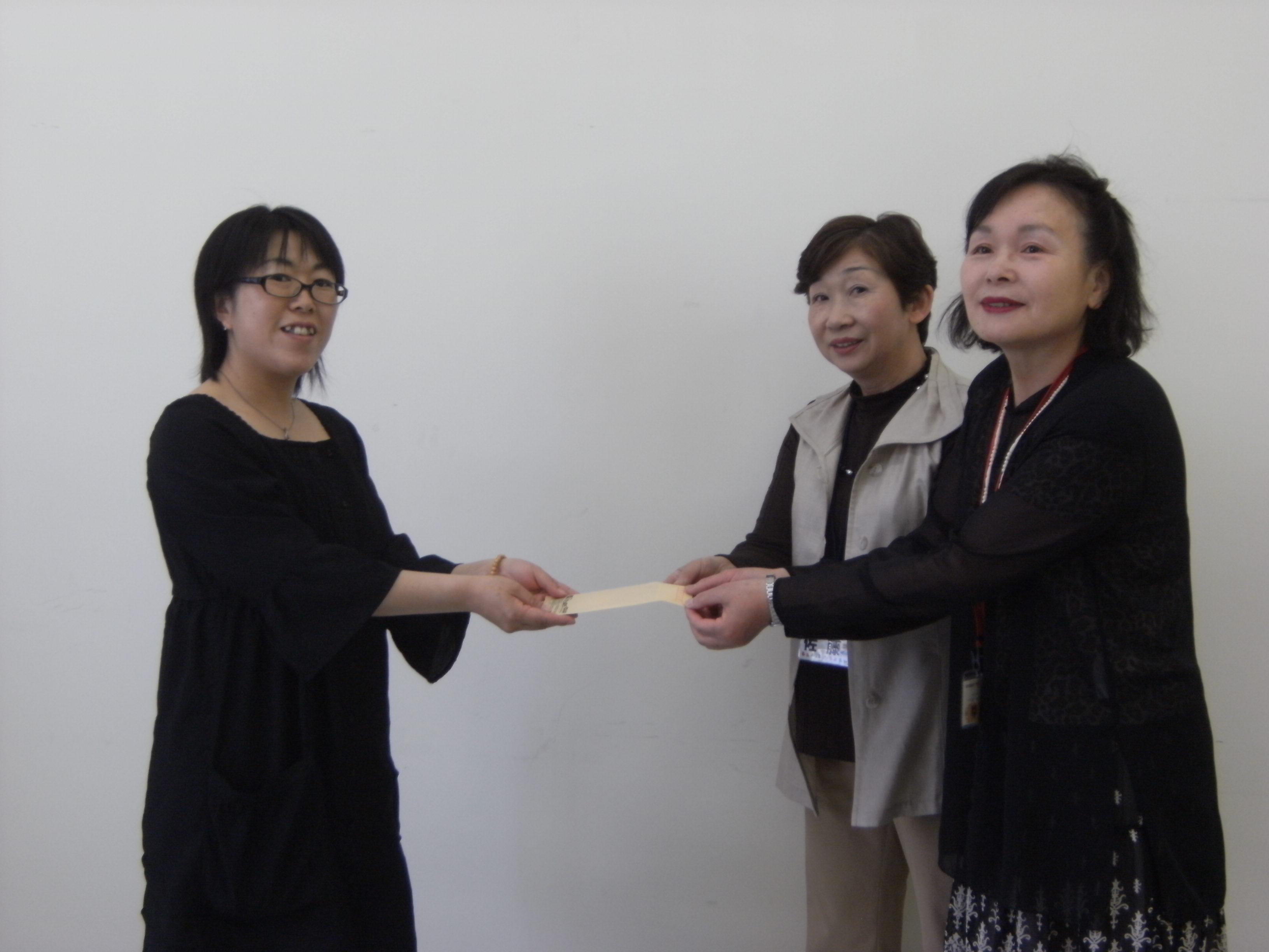 コープボランティア活動サポート制度 授与式