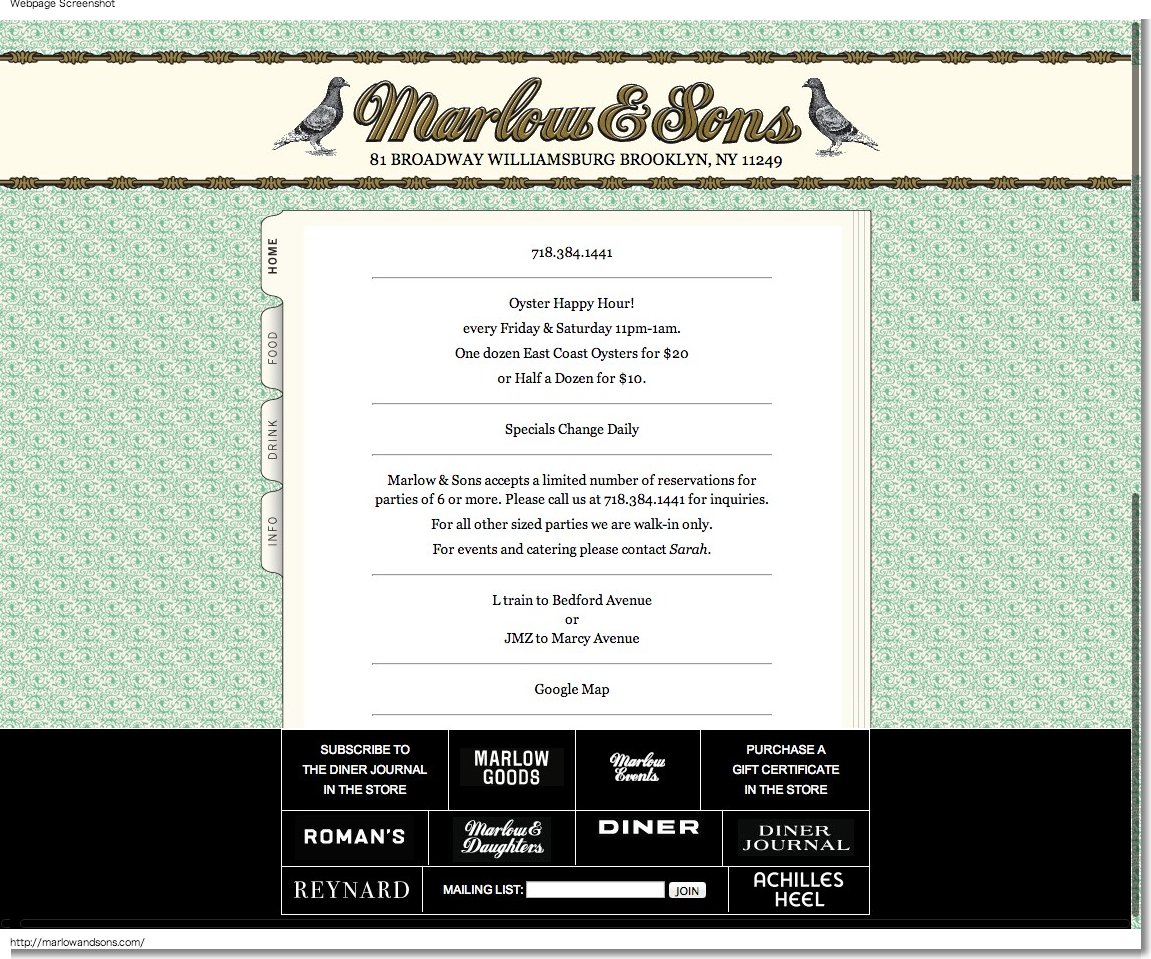 Marlow Sons, Marlow, Marlow and Sons, Local Food, NYC, Brooklyn Restaurant