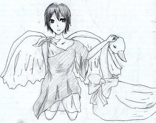 天使と白鳥