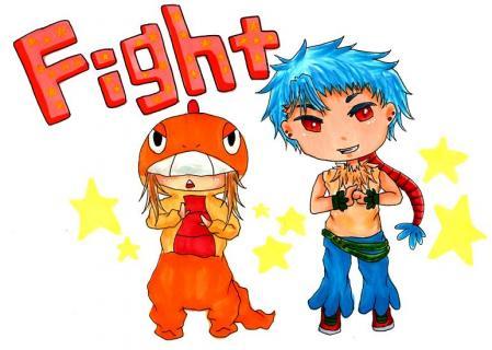 マユリとアスカ Fight
