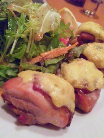 大山鶏の柚子コショウ焼き