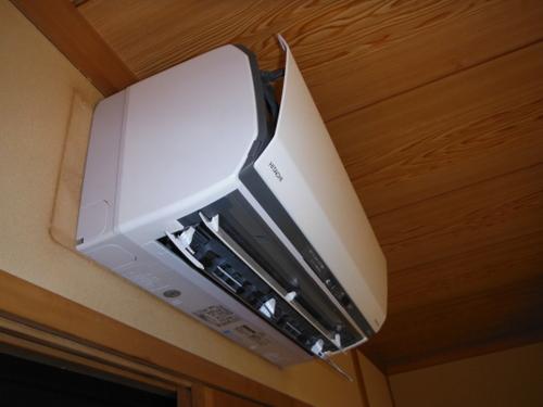 山口市阿知須 K様邸 日立エアコン ステンレスクリーン白くまくん RAS-SX40C2 取付工事