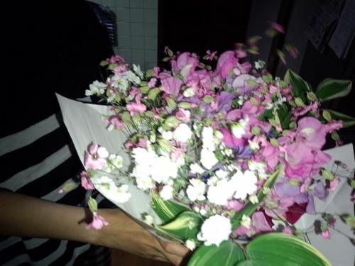 お花の頂き物
