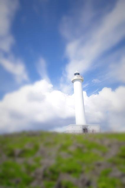 残波岬の灯台