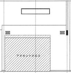 TVボード立面図