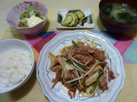 牛肉の野菜炒め