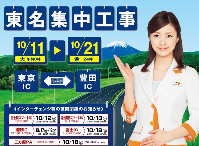 東名高速集中