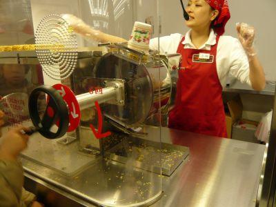 麺をセットする工程