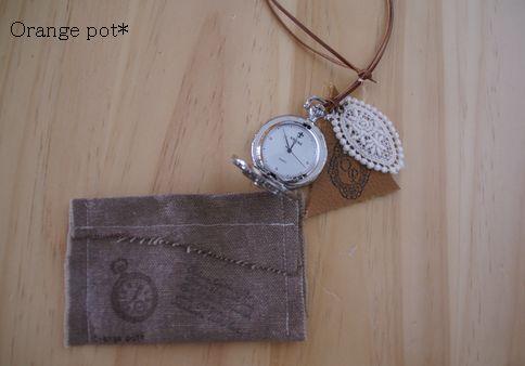 懐中時計クロス