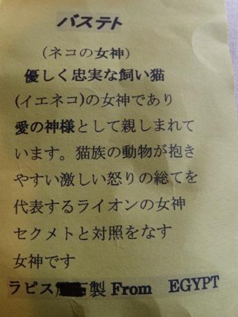 2010.8.17 沖縄の食料品 バステトの説明