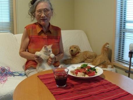 2010.8.29  祖母と弟来る2