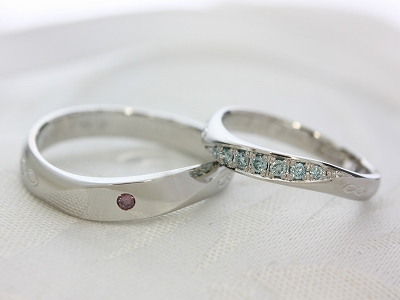 カラーダイヤモンド☆マリッジリング