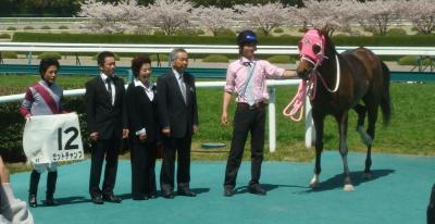 阪神4R 3歳未勝利 一着馬ゼットチャンプ写真