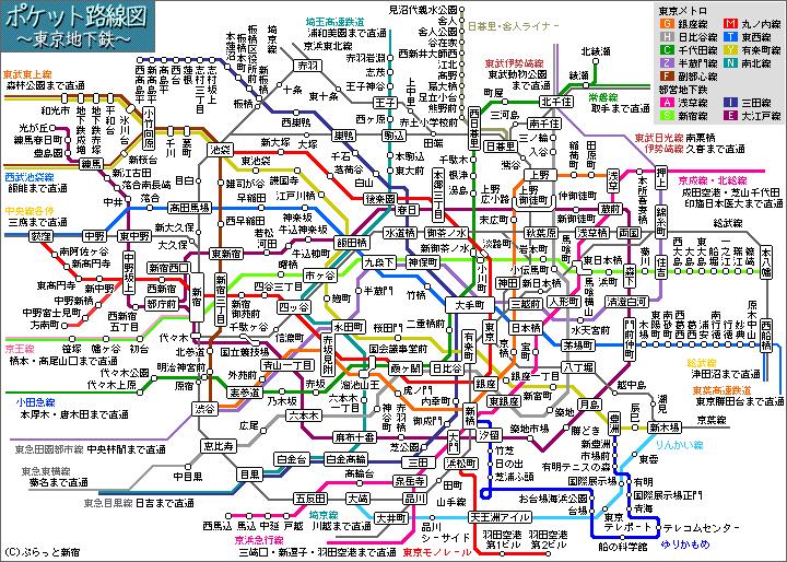 東京都内のわかりやすい鉄道の路線図教えてください。 - 東京都内のわかりや... - Yahoo!知恵袋