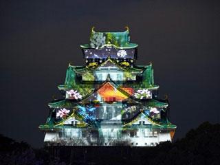 大阪城2014のイルミ105306_1
