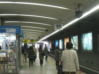 JR天王寺駅18番ホーム
