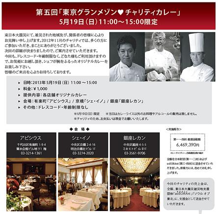 第5回東京グランメゾンチャリティーカレー