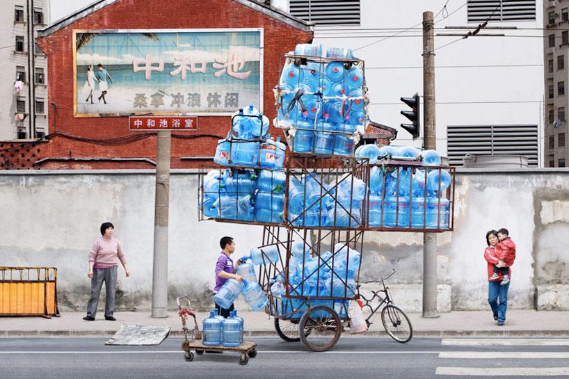 中国 水運び屋