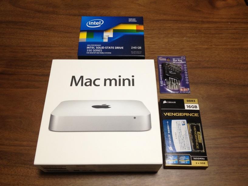 Mac mini、SSD、メモリ、トルクスドライバー