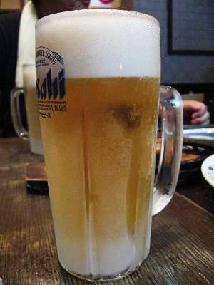 コキコキに冷えた生ビール