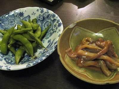 枝豆とイカの塩辛