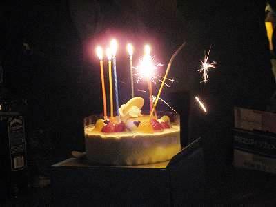 Mさんのお誕生ケーキ