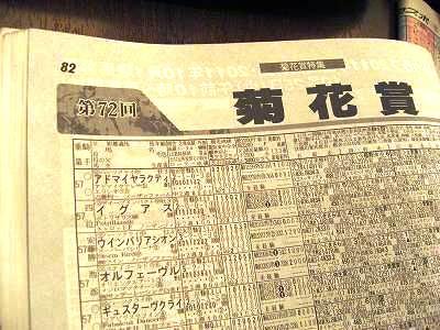 週刊競馬ブック 菊花賞のページ
