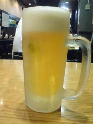 今日もコキコキに冷えた生ビール
