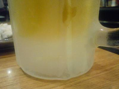 コキコキに冷えた生ビール2