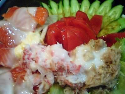 本日の海鮮サラダ1