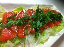 男でも作れる簡単節約料理生活-サーモンのカルパッチョ