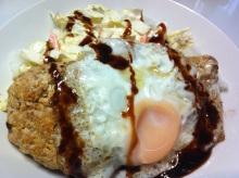 男でも作れる簡単節約料理生活-ロコモコ(豆腐ハンバーグ)