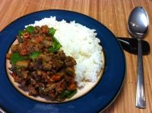 男でも作れる簡単節約料理生活-ナスのドライカレー