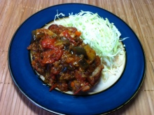 男でも作れる簡単節約料理生活-鶏もも肉のピカディージョソース