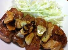 男でも作れる簡単節約料理生活-鶏もものガーリックソテー