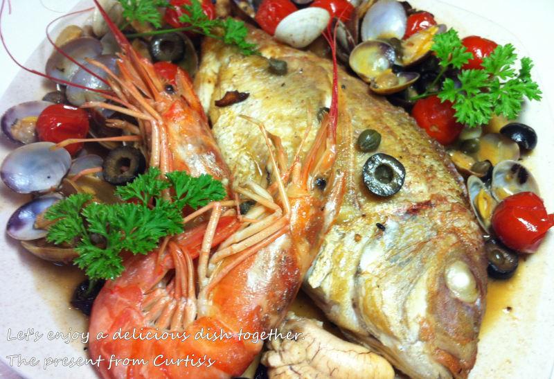 男でも作れる簡単節約料理生活-鯛のアクアパッツァ
