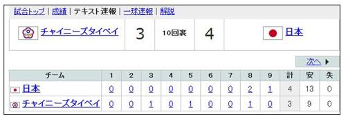 WBC結果