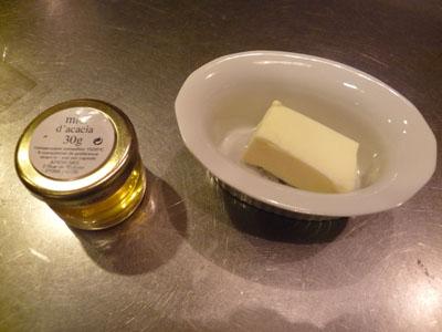 生チョコバターと蜂蜜