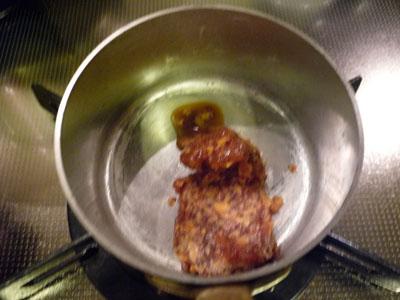 酢豚 ストウブの残りのソースを煮詰めて