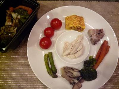 りえるストウブ、納豆卵、チキン