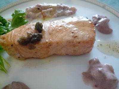 鮭のおりーぶ2種類のソースアップ