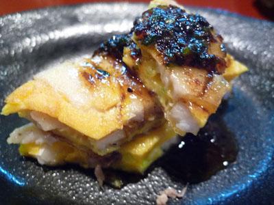 マナガツオの卵焼き。ガラムマサラのソース