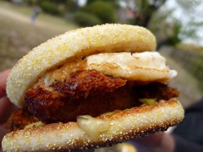 お花見ご当地ハンバーガー牡蛎
