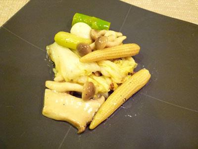 野菜炒めとリスープ