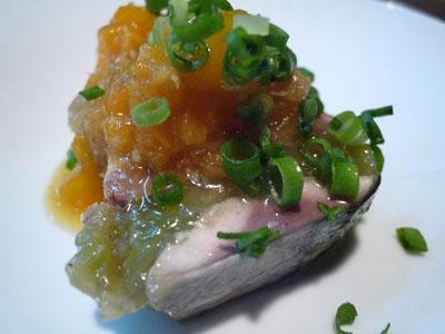 秋刀魚軽い薫製