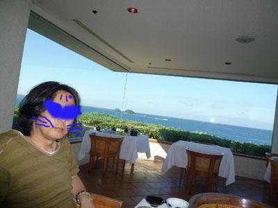 西長門リゾート朝ご飯も海みながら180度
