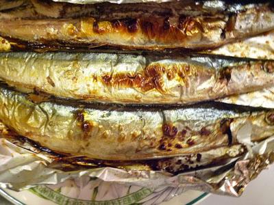 秋刀魚のパスタやきます